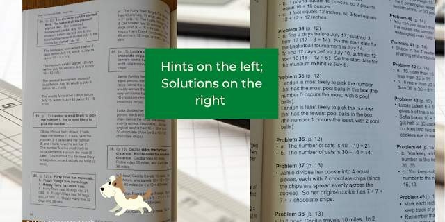 Dare to Compare Math: Beginning solutions and hint pages