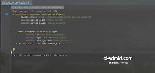 konten_aplikasi.xml Android Studio