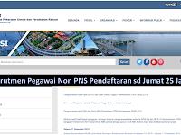 Kementrian PUPR Terakhir Jumat, 25 Januari 2019 Pegawai Non PNS