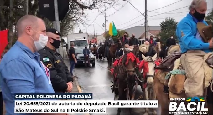 VÍDEO: Lei de autoria do deputado Emerson Bacil concede São Mateus do Sul como Capital Polonesa do Paraná