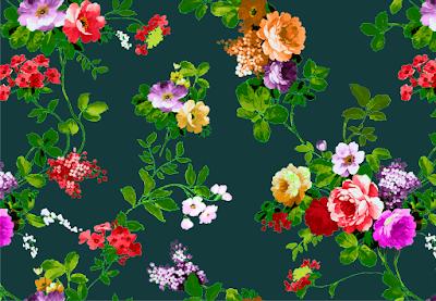 floral vector textile repeat 7041