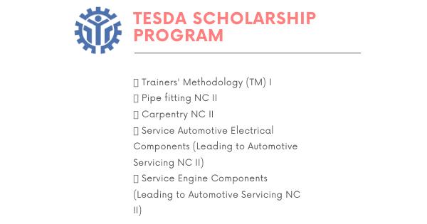 6 TESDA Course   RTC - Tacloban Scholarship program
