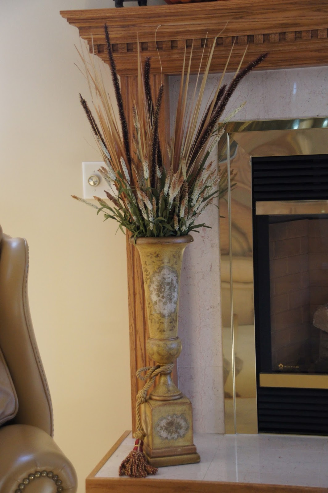 Home And Gardening With Liz Embracing Fall On The Mantel