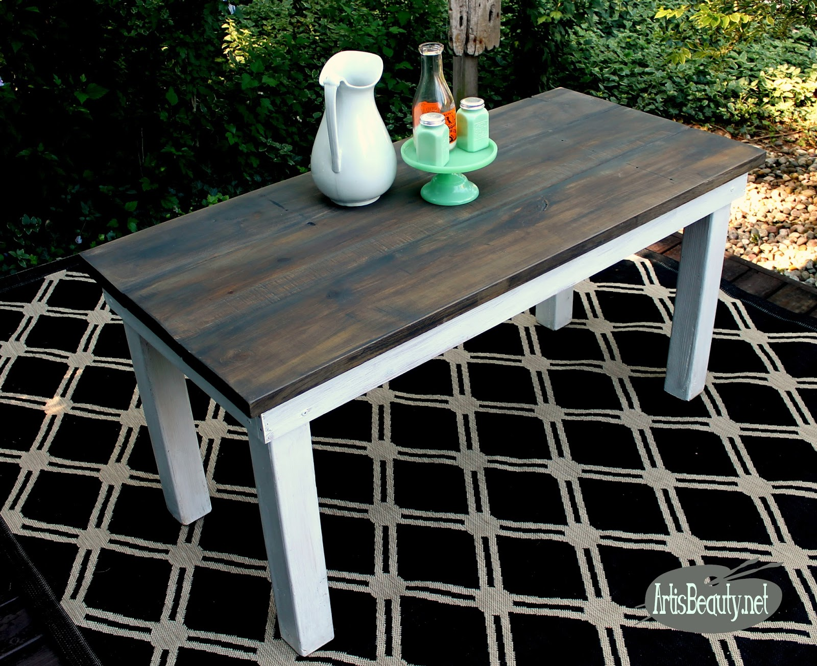 ART IS BEAUTY How I built a Vintage Rustic Farmhouse table for FREE
