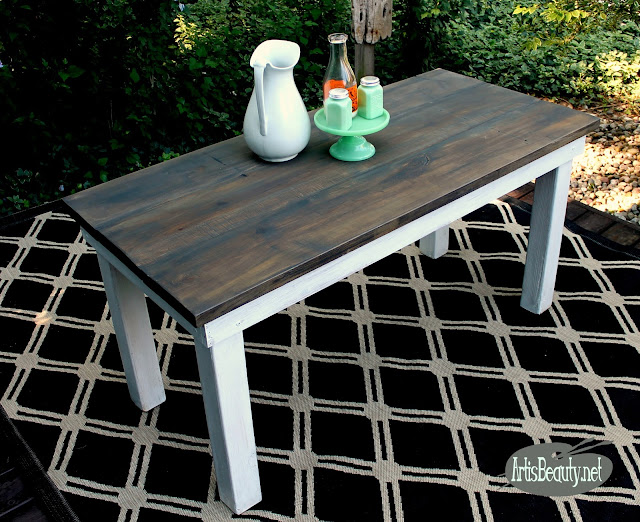 build a farmhouse table for free with scrap lumber diy build stain sanding