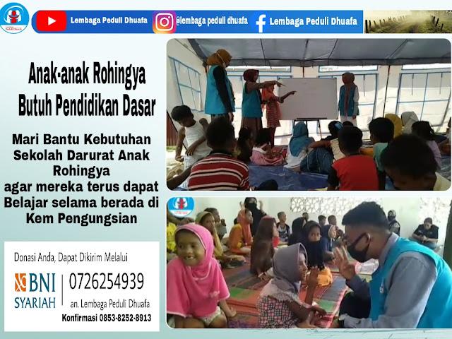 Mari bantu Anak-anak Muslim Rohingya, Mareka Butuh Pendidikan Dasar