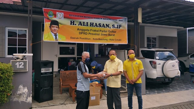 H.Ali Hasan Gelar Reses di Kota Cimahi Dengan Penerepan Prokes 3M Secara Ketat
