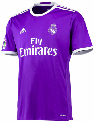 segunda camiseta Real Madrid 2016 2017