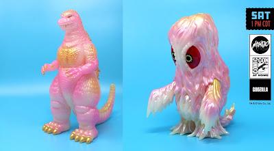 San Diego Comic-Con 2021 Exclusive Godzilla '84 & Hedorah Cherry Blossom Edition Soft Vinyl Figures by Mondo