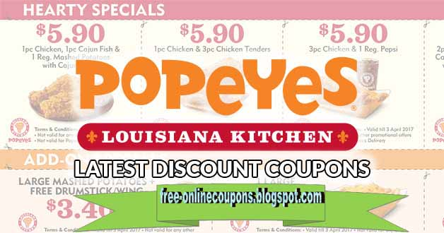 Popeyes printable coupons