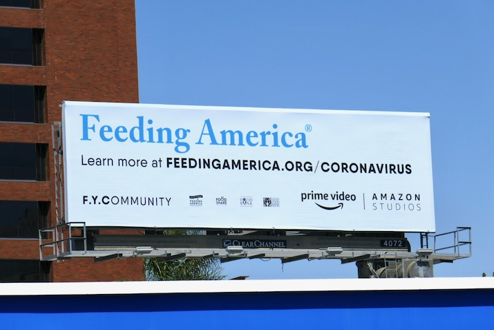 Feeding America FYCommunity Amazon billboard