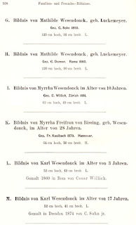Otto Wesendonck: Katalog A mit Anhang. III. Berlin 1888