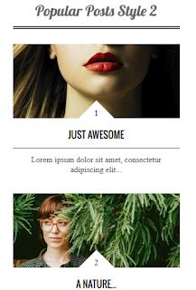 Widget Artikel Terpopuler Terbaru Untuk Blogger