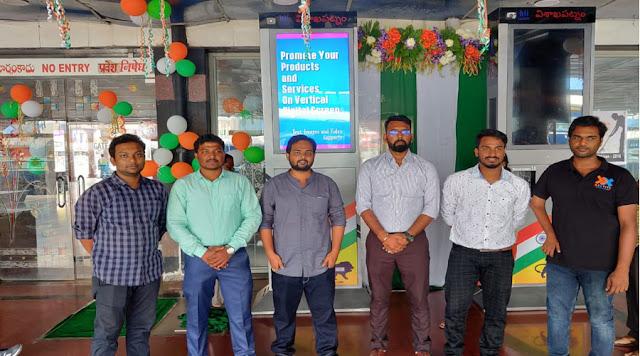 Nexyite installs interactive DOOH media at Visakhapatnam Rly Station: Media4growth