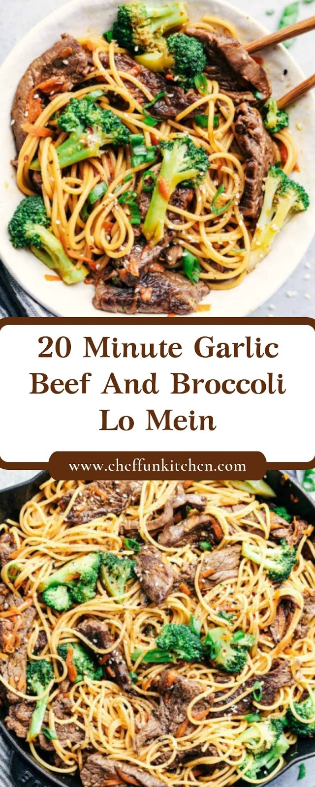 20 Minute Garlic Beef And Broccoli Lo Mein