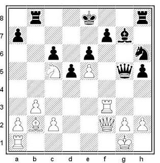 Posición de la partida de ajedrez Varga - Hradeczky (Budapest, 1991)