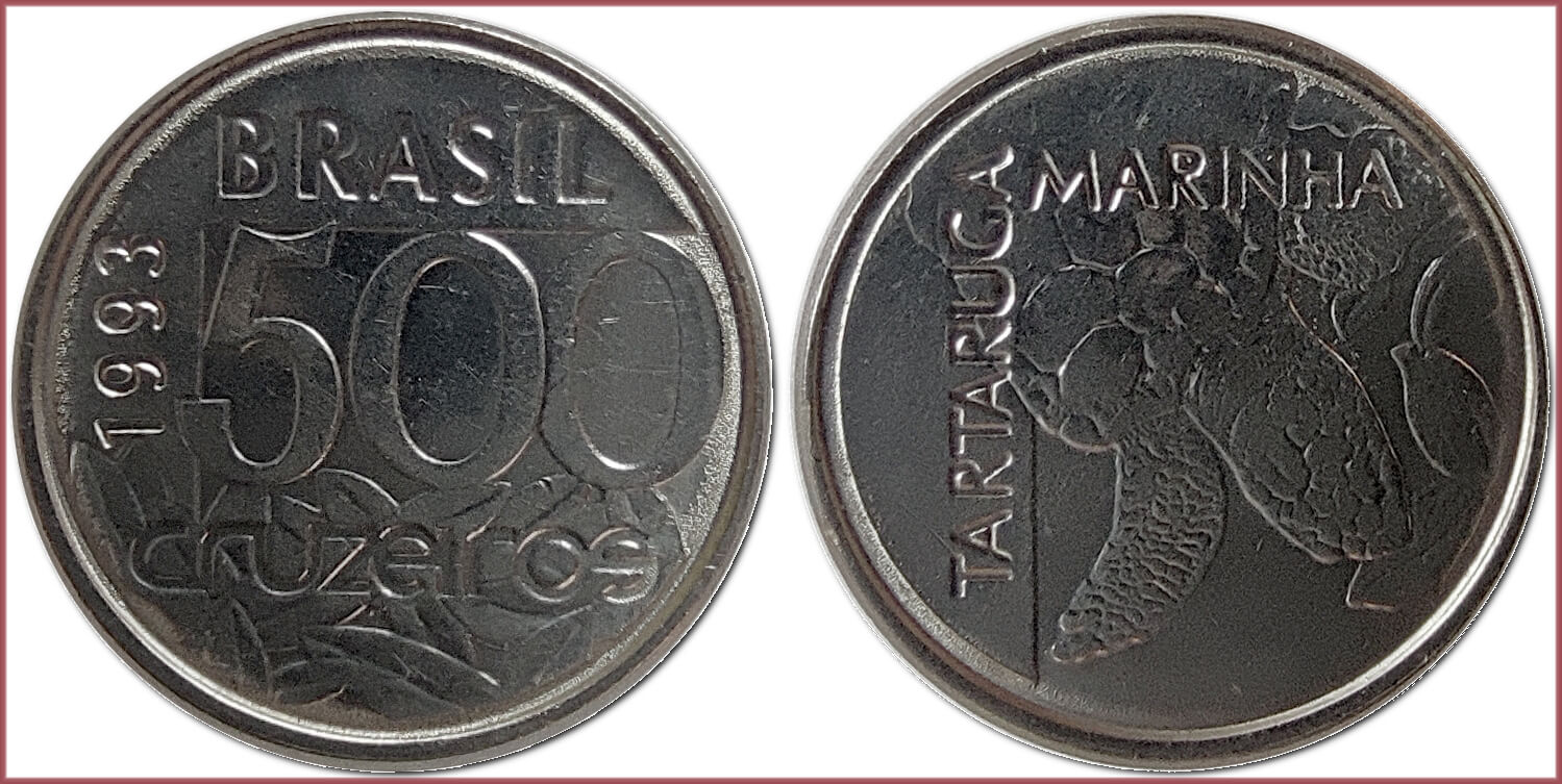 500 cruzeiros, 1993: Federative Republic of Brazil