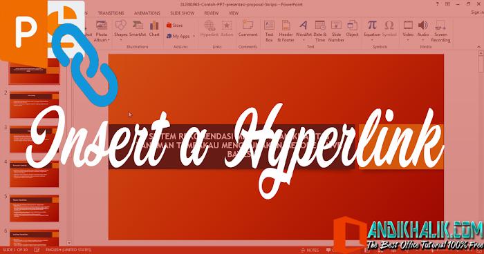 5 Hal Cara Memasukkan Hyperlink (Tautan) di PowerPoint
