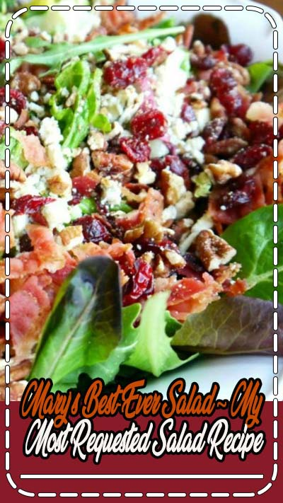 Today I am sharing my most requested salad. If you like the ingredients below, you will LOVE this salad. Gorgonzola, apple, cherries, pecans and bacon, with a sweet balsamic dressing. Trust me, you…