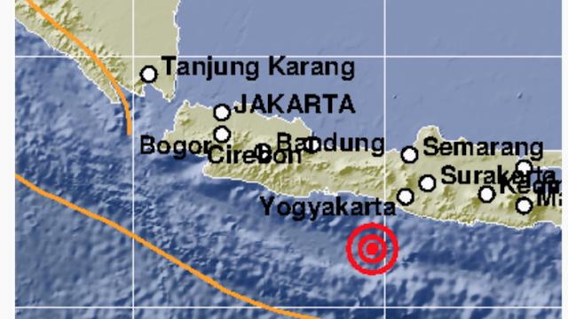 Gempa Berkekuatan 5,1 SR Mengguncang Yogyakarta