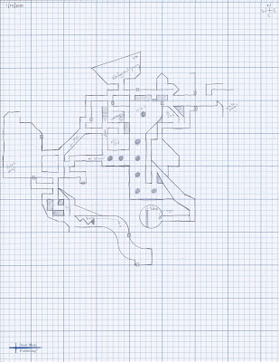 Henry's Dada Mega-Dungeon - Level 2 Player Map by Allan Grohe