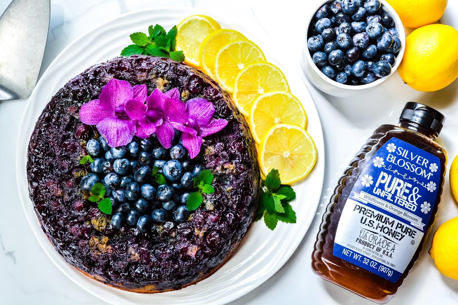 Blueberry-Lemon Upside Down Cake