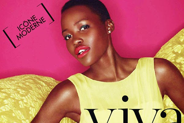 Lupita Nyong'o in the new issue of the French gloss