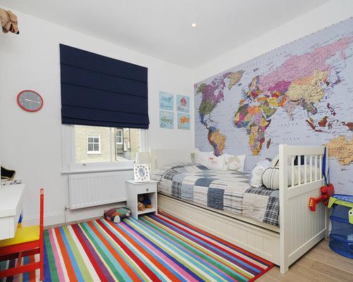 Tapet världskarta fototapet barnrum barntapet barn
