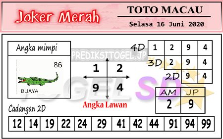 Prediksi Toto Macau Selasa 16 Juni 2020 - Togel Joker