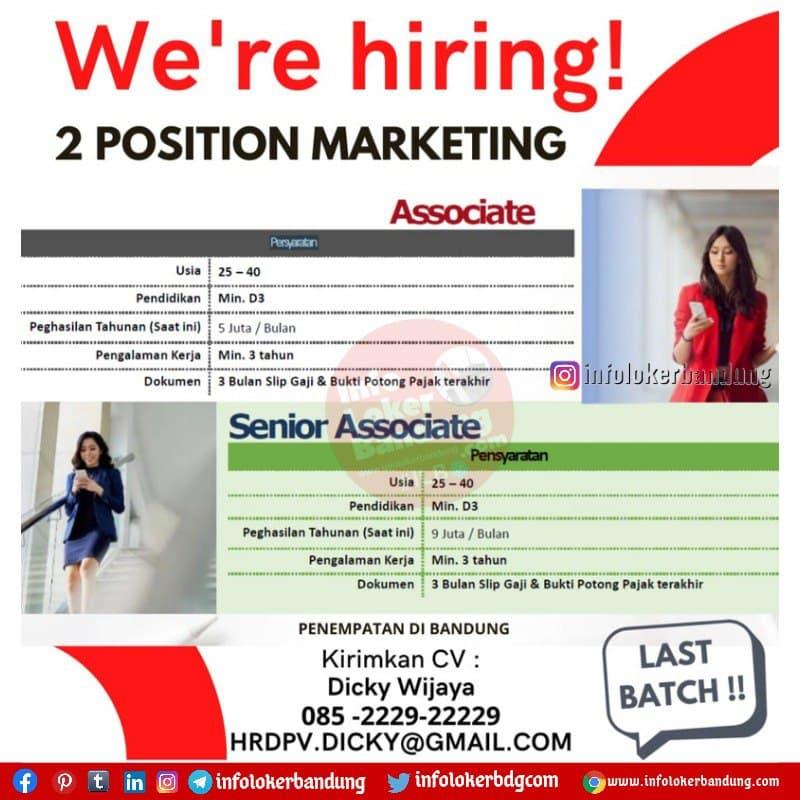 Lowongan Kerja Associate & Senior Associate  Legacy.Inc by Prudential Bandung Juli 2021