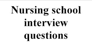 Nursing college interview questions
