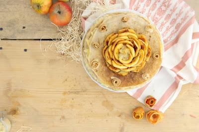 Gâteau de crêpes aux pommes vegan