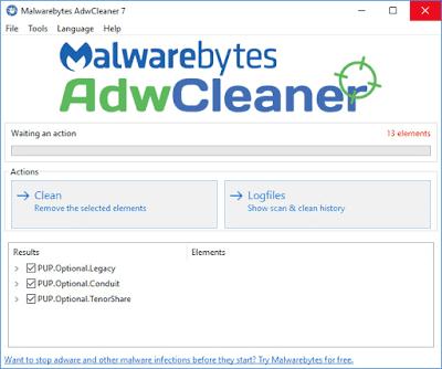 Malwarebytes AdwCleaner 7.0.3.1 - Quét, dọn phần mềm quảng cáo miễn phí