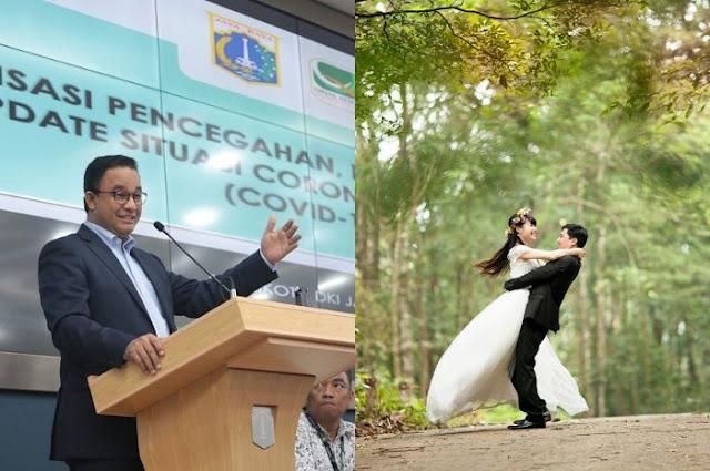 Anies Ungkap 4 Syarat Gelar Resepsi Pernikahan di Tengah Wabah Virus Corona, Salah Satunya Pengantin Wajib Siapkan Ruang Isolasi