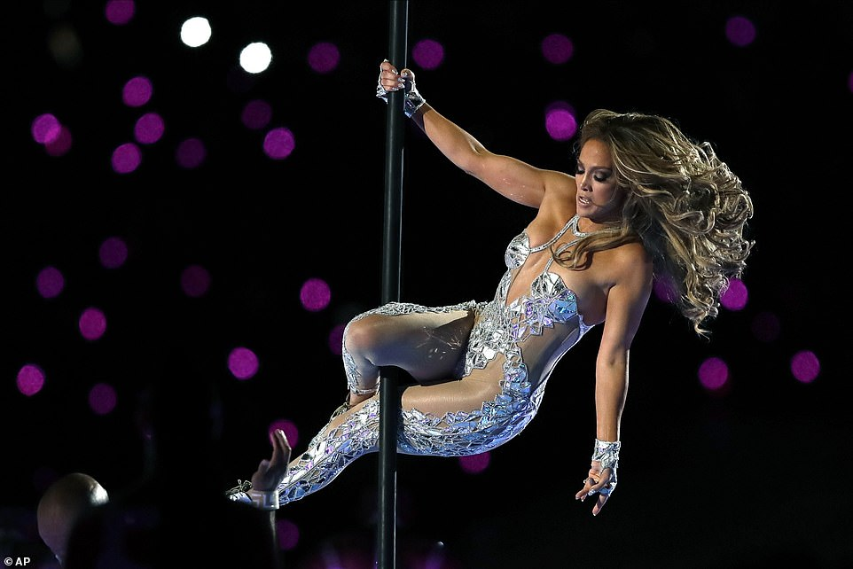 Jennifer Lopez delivered an electric performance full of pole dancing during her epic half-time performance at Super Bowl LIV