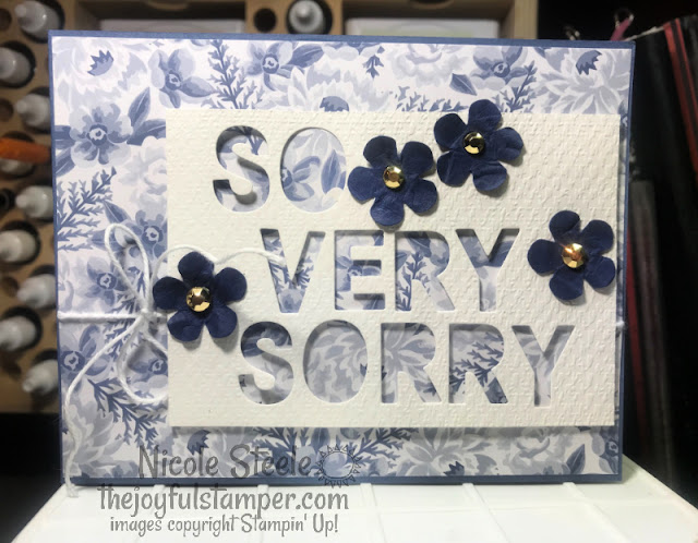 stampin' up!, patterned paper, letter dies, unique ways to use letter dies, paper crafts, stamping, handmade card, how to make cards, how to stamp, sympathy card