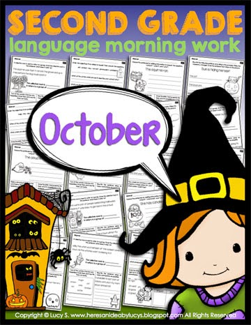 Second Grade Language Morning Work: October