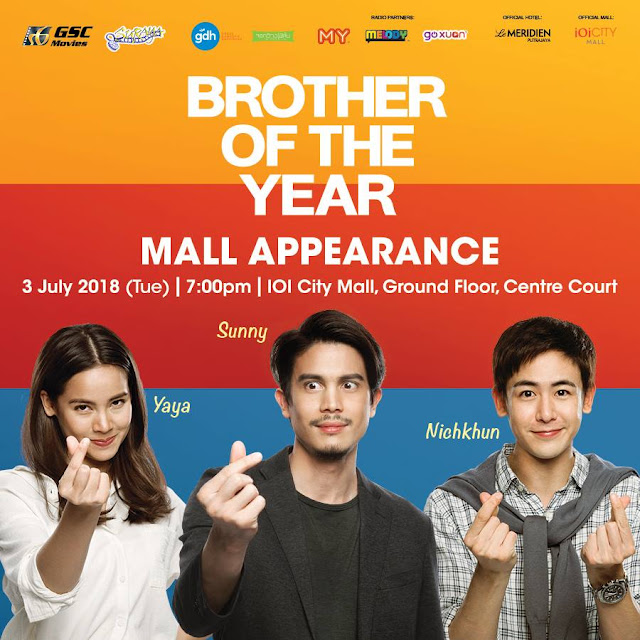 """BROTHER OF THE YEAR"" Yaya, Sunny and Nichkhun in Malaysia Mall Appearance 3 July 2018 @ IOI CIty Mall Ground Floor Centre Court"
