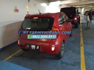 Kirim mobil Kia Picanto dari Surabaya tujuan ke Manado door to door dengan kapal roro dan driving melalui Pelabuhan Soekarno Hatta Makassar, perkiraan pengiriman 5-6 hari.