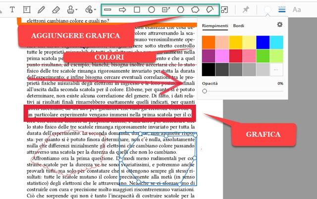 aggiungere grafica personalizzata al PDF
