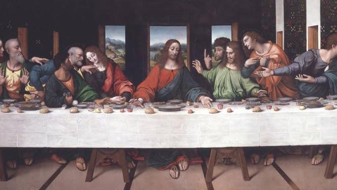 Az utolsó vacsora – Leonardo falfestményén nem látszik, mégis megnézhetjük Jézus lábait