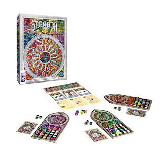 Componentes de Sagrada board game