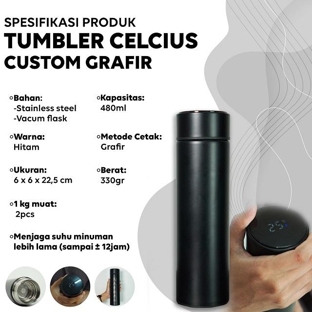 Smart Tumbler Termos Celcius Grafir