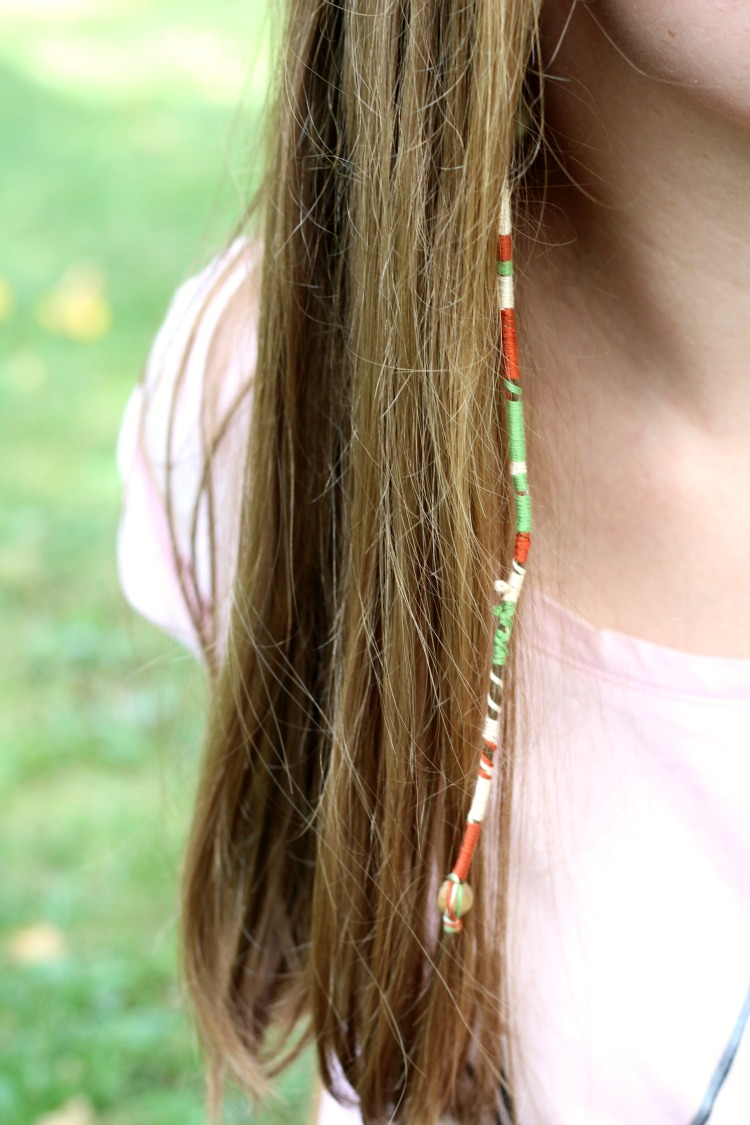 boho hair wrap diy ness the barefoot gal