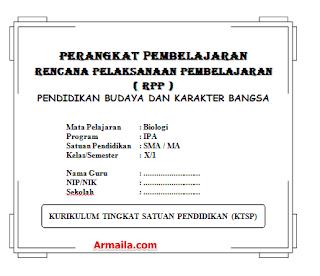 Download RPP KTSP Biologi Kelas X SMA