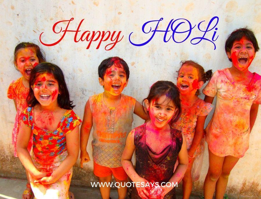 Children playing Holi Festival