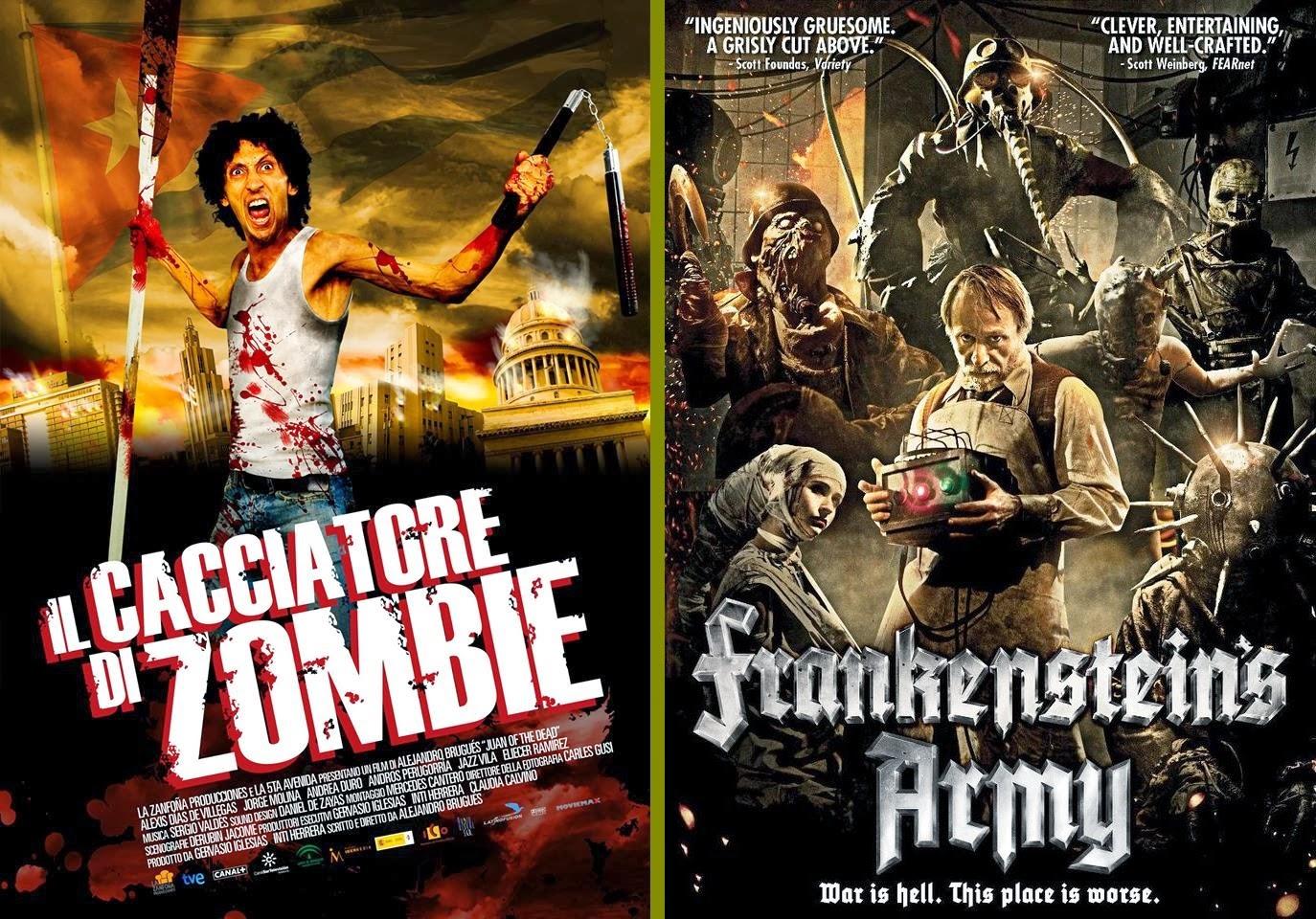 """""""Il cacciatore di Zombie"""" (aka """"Juan of the Dead"""") e """"Frankenstein's army"""""""