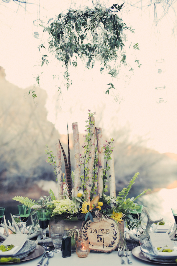 bride+groom+bridal+dress+gown+floral+hair+wreath+rustic+woodland+ecofriendly+eco+friendly+green+emerald+color+of+the+year+pantone+cake+dessert+table+reception+centerpiece+blue+hipster+fall+autumn+gideon+photography+33 - Woodland Fairytale