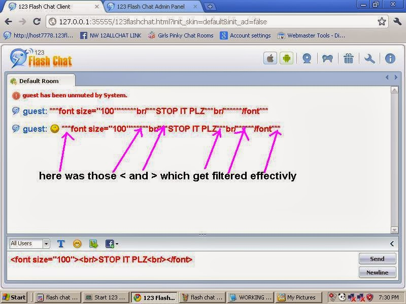 Flash chat room