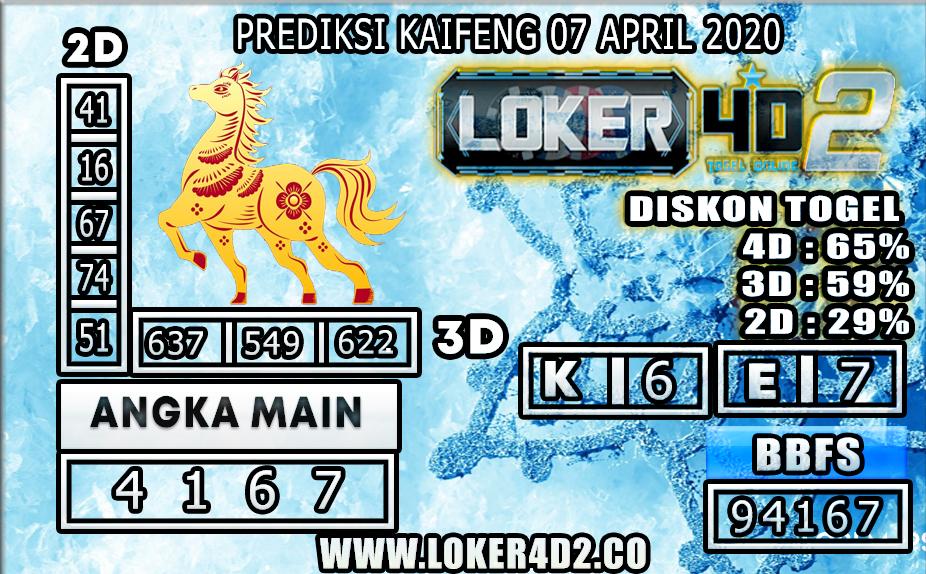 PREDIKSI TOGEL KAIFENG LOKER4D2 07 APRIL 2020